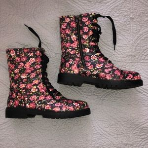 Madden Girl Floral Combat Boots
